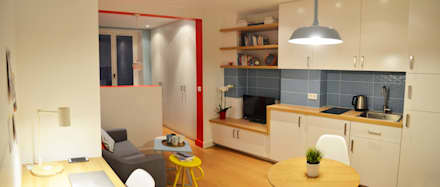 Studio de 23m2 entièrement repensé et décoré: Cuisine de style de style Scandinave par Sandrine Carré