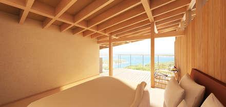 伊豆の家: エイチ・アンド一級建築士事務所 H& Architects & Associatesが手掛けた寝室です。