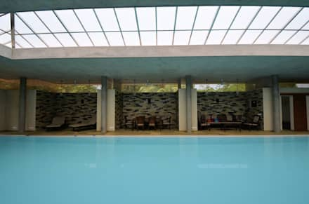 The Niches: modern Pool by C&M Architects