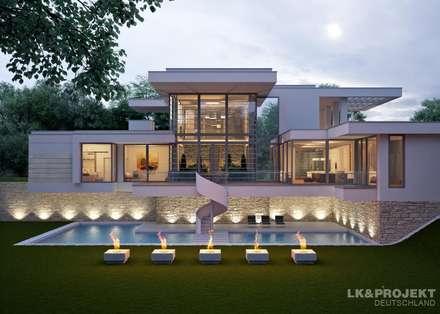 Individuelle Einfamilienhäuser : moderne Häuser von LK&Projekt GmbH