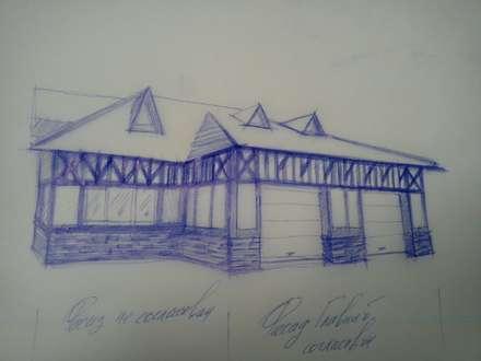Проектирование фахверка на гараже: Гаражи в . Автор – Ал
