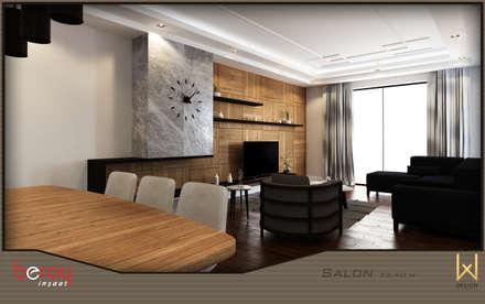 W DESIGN İÇ MİMARLIK – Oturma Odası: modern tarz Oturma Odası