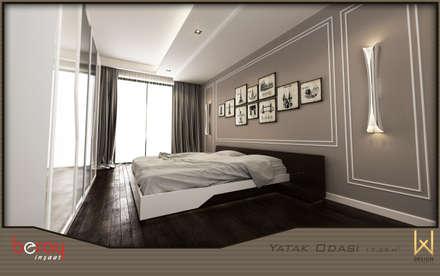 W DESIGN İÇ MİMARLIK - Yatak Odası: modern tarz Yatak Odası