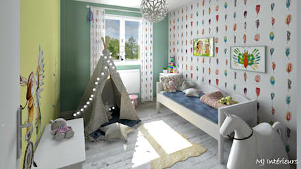 eclectic Nursery/kid's room by MJ Intérieurs