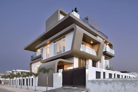 A villa in udaipur - india: modern Houses by FORM SPACE N DESIGN ARCHITECTS