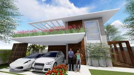Residência Contemporânea: Casas modernas por Studio²