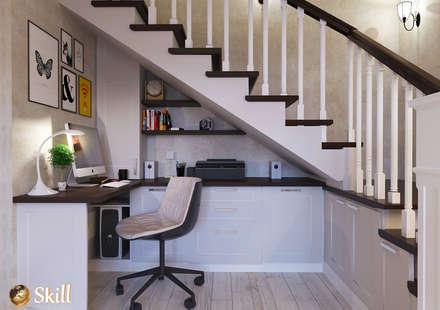 Рабочая зона под лестницей: Рабочие кабинеты в . Автор – SKILL