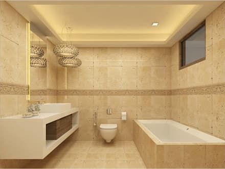 MANTRI ESPANA, BANGALORE. (www.depanache.in): classic Bathroom by De Panache  - Interior Architects