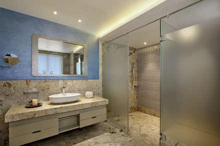 Nikhil patel residence: modern Bathroom by Dipen Gada & Associates