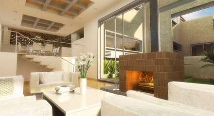 : Casas de estilo moderno por 57uno Arquitectura