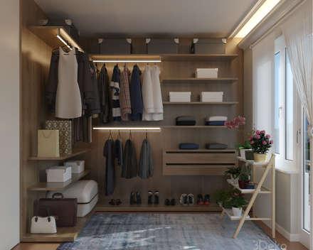 Vestidor en 3D: Recámaras de estilo moderno por 3Deko