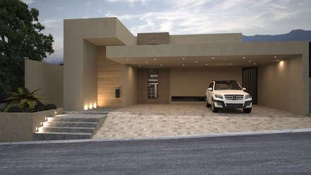 Fachada principal: Casas de estilo minimalista por Nova Arquitectura