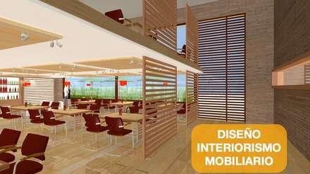 Espacios de oficina y trabajo Bogota: Edificios de oficinas de estilo  por  Arquitectura Modular Residencial Comercial Interiorismo