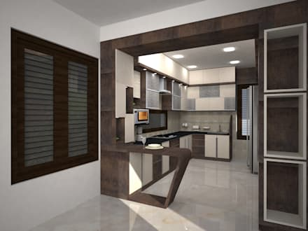 Mr.Ajith Residence: modern Kitchen by MAPLE TREE