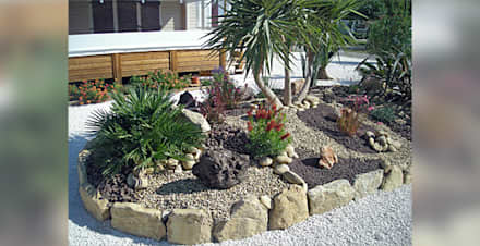 Exemples de réalisations: Jardin de style de style Moderne par  Les jardins de Laurent
