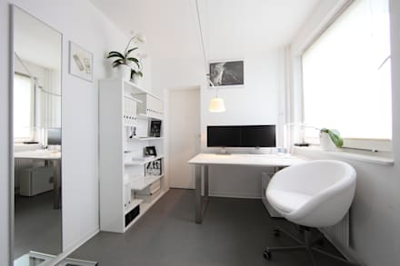 minimalistic Study/office by nadine buslaeva interior design