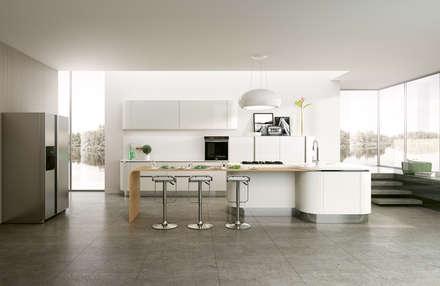 Modello Asia: Cucina in stile in stile Moderno di DIEMME CUCINE S.r.l.