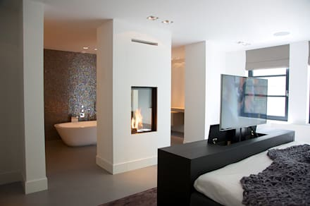 Villa in 't Gooi: moderne Slaapkamer door Designa Interieur & Architectuur BNA