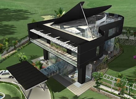 Proposed Musical residence at Chennai: eclectic Houses by Offcentered Architects