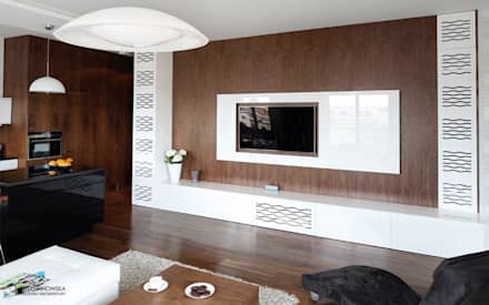 minimalistic Media room by Ludwinowska Studio Architektury