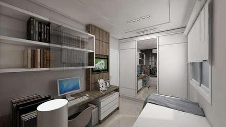 Dormitório jovem: Quartos  por Débora Pagani Arquitetura e Interiores