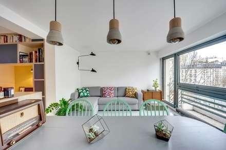 Paris 11: Salon de style de style Scandinave par blackStones