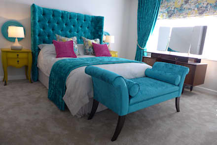 hotel style bedroom design in Somerset: classic Bedroom by Style Within