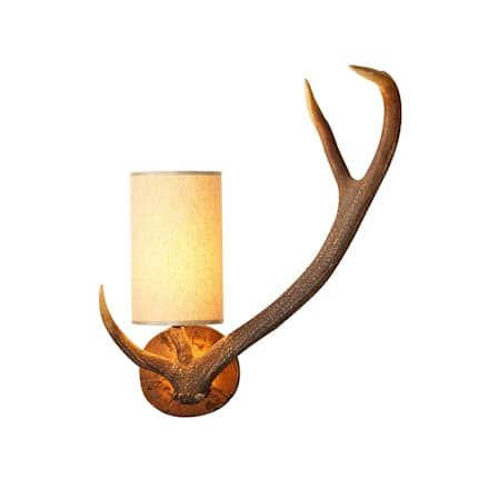 Antler Wall Light (Right):  Walls by Socket Store