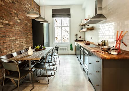W10 Kitchen by British Standard: rustic Kitchen by British Standard by Plain English