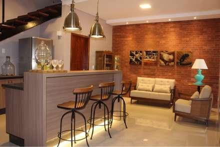 rustic Wine cellar by Arquiteta Bianca Monteiro