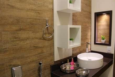 Baños de estilo rústico por Arquiteta Bianca Monteiro