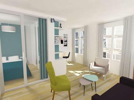 Une chambre en plus: Salle à manger de style de style Moderne par Emilie Lagrange