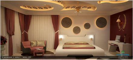 Bedroom: asian Bedroom by Premdas Krishna