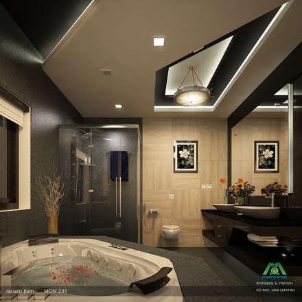 Modish Modern Contemporary...: modern Bathroom by Premdas Krishna