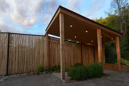 Biological Medical Center Access: Jardines de estilo moderno por Vientos Arquitectura