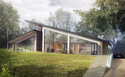 Front Elevation: modern Houses by Artform Architects