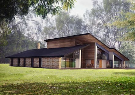 Front Elevation : modern Houses by Artform Architects