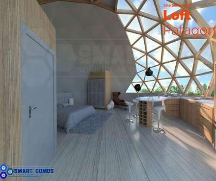 loft patagon: Habitaciones de estilo moderno por smart domos