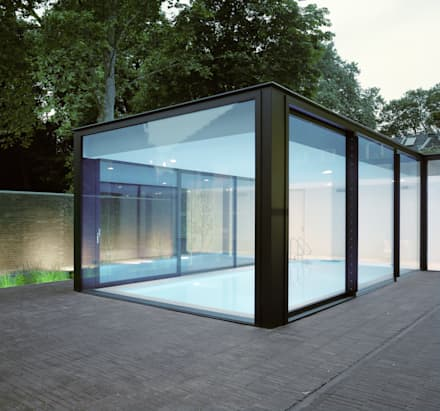 Poolhouse Maastricht: modern Zwembad door bv Mathieu Bruls architect