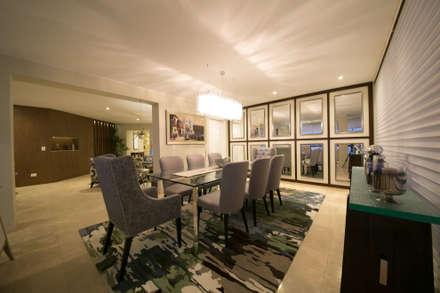 Departamento Malecon Miraflores: Comedores de estilo ecléctico por Oneto/Sousa Arquitectura Interior