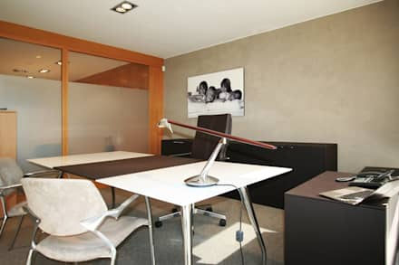 Despacho de dirección: Oficinas y Tiendas de estilo  de Gramona Interiors