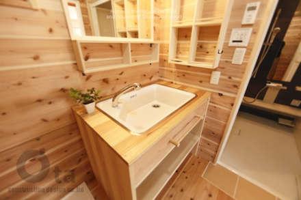 藍住町S様邸: 株式会社Ota建築設計が手掛けた浴室です。