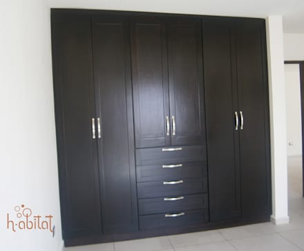 غرفة الملابس تنفيذ H-abitat Diseño & Interiores