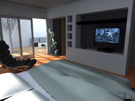 EDIFICIO MECENAS: Dormitorios de estilo moderno por GGAL Estudio de Arquitectura
