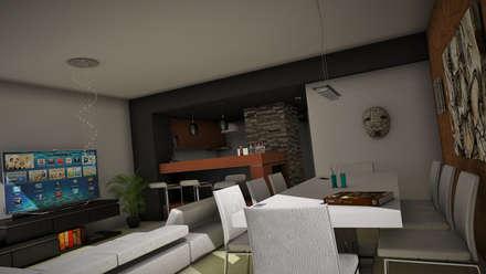 THE BLOCK: Comedores de estilo moderno por GGAL Estudio de Arquitectura
