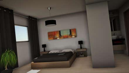 THE BLOCK: Dormitorios de estilo moderno por GGAL Estudio de Arquitectura