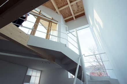 吹き抜け: 一級建築士事務所 Atelier Casaが手掛けた玄関・廊下・階段です。