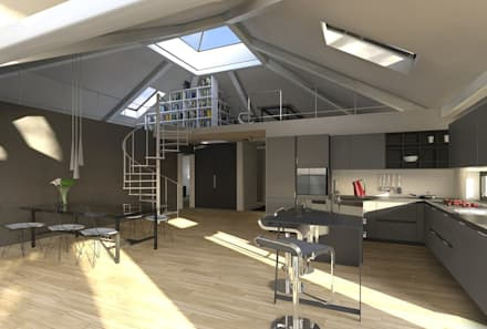 K MÄLEON Hybridhaus // Koch  Und Essbereich: Moderne Küche Von K