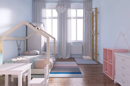 pokój dziecięcy: styl , w kategorii Pokój dziecięcy zaprojektowany przez JUSSS