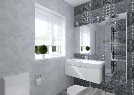Загородный дом в широченке: Ванные комнаты в . Автор – Студия архитектуры и дизайна Вояджи Дарьи